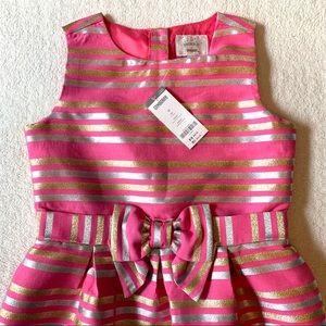 NWT sparkly pink & gold Gymboree dress, sz 12